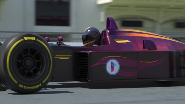 Yarış araba yarışları - çevresinde dönen kamera için hazırlanıyor video