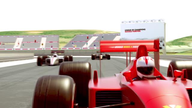 Yarış arabaları start Için hazırlanıyor-4K 3D animasyon video