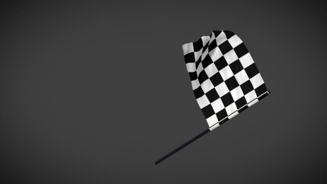 racing flags - checker flag looping animation with alpha mask - a quadri video stock e b–roll