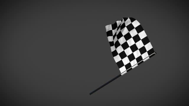 racing flags - checker flag schleife animation mit alpha-maske - karo stock-videos und b-roll-filmmaterial