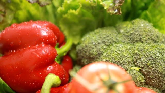 ラックフォーカス洗浄野菜 ビデオ