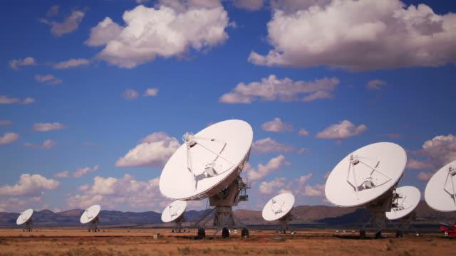 radar array dish time lapse - parabolantenn bildbanksvideor och videomaterial från bakom kulisserna