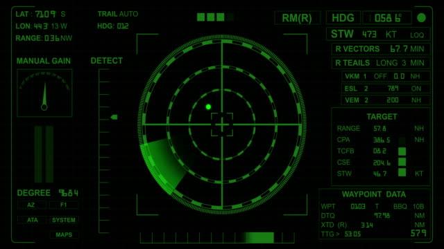4K Radar Screen video