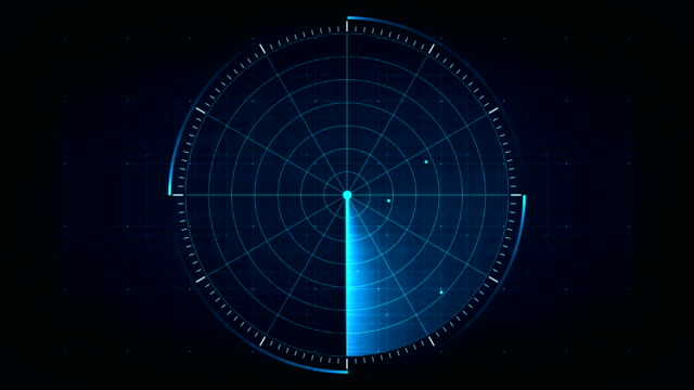 Radar Digital blue realistic radar with targets on monitor in searching. Air search . Military search system . Navigation interface wallpaper . Navy sonar. hud graphical user interface stock videos & royalty-free footage