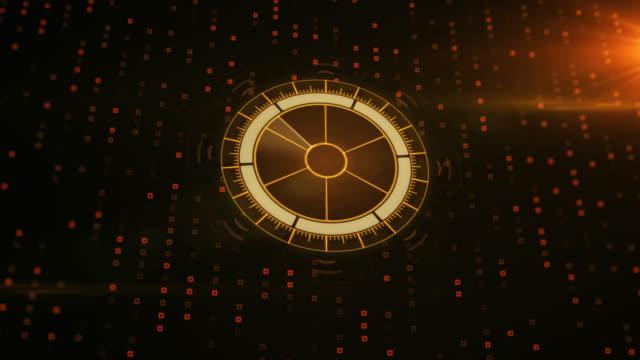 radar with target on map. futuristic user interface. hud - target australia stock videos & royalty-free footage