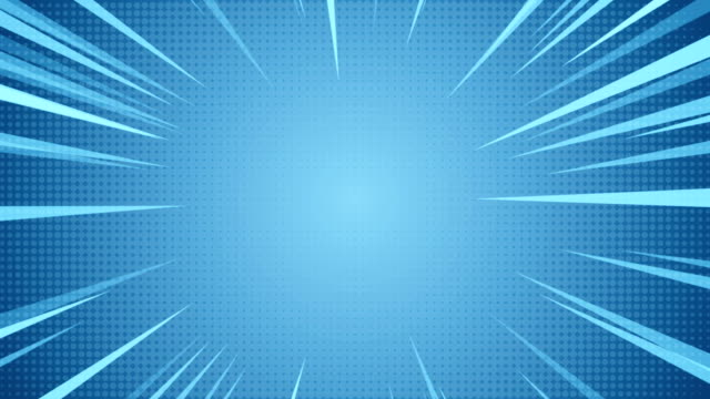 Radial Background of halftones and high-speed abstract lines for Anime video