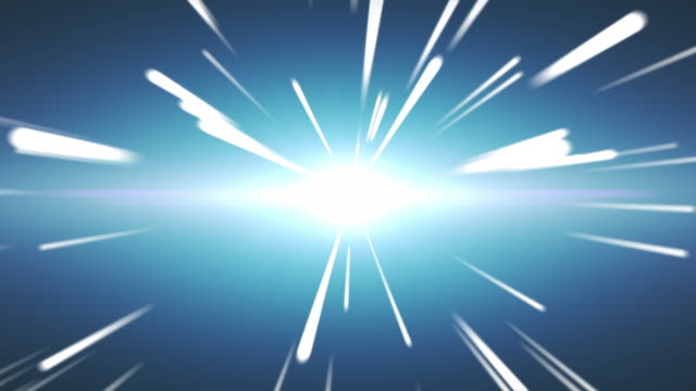 Radial speed line space background - video