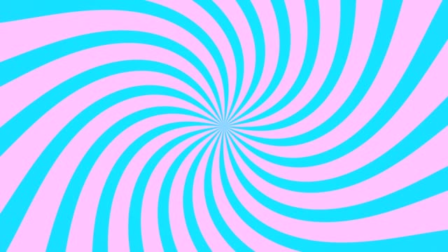 radial swirl rising sun vortex motion background loop pink and blue - hippy video stock e b–roll