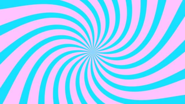 vidéos et rushes de radial tourbillon rising sun vortex motion fond boucle rose et bleue - psychédélique
