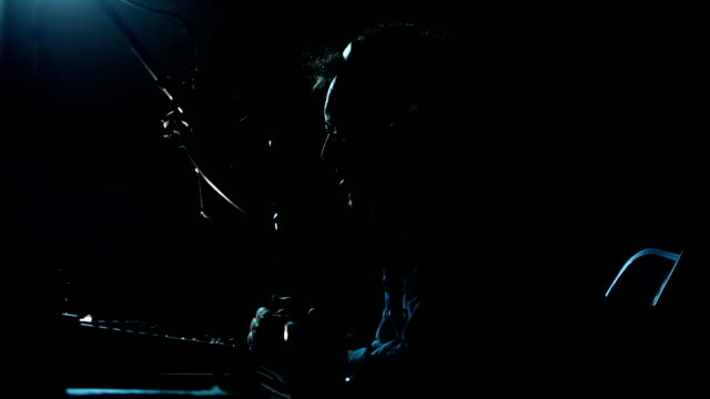 Radio DJ with Headphones. Night Air video
