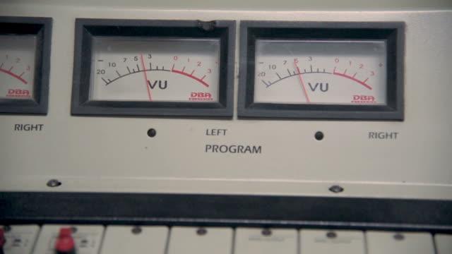 Radio operating radometers in an old radio console