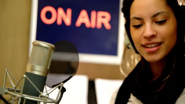 Radio presenter video