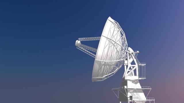 Radio Telescope Against Morning Sky video