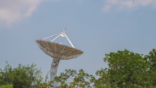 Radio Telescope and Blue sky with Cloud video