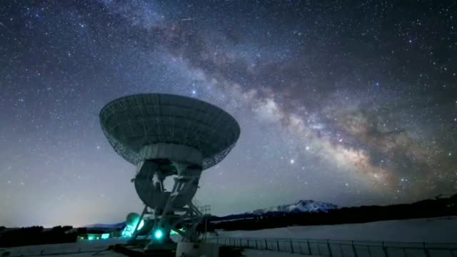 Radio telescope background