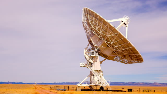 radio telescope - antenna parte del corpo animale video stock e b–roll