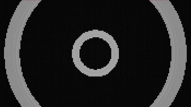 Funkwelle von geführtem Bildschirmpartikeln. Schaltkreis-Lichtanimation. (Loopable) – Video