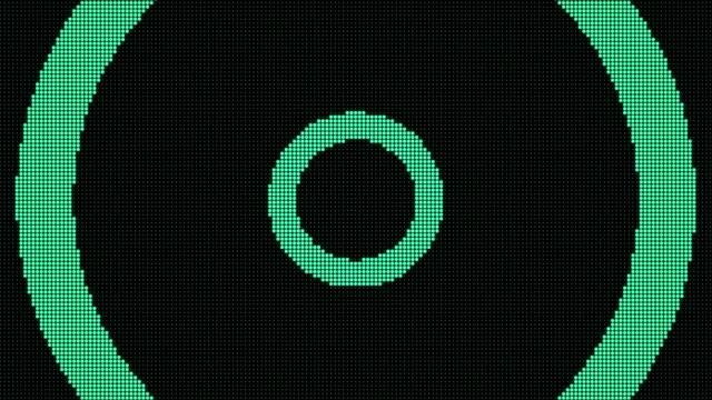 радиоволновые частицы светодиодного экрана. легкая анимация цепи. (петля) - в стиле минимализма стоковые видео и кадры b-roll