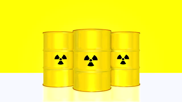 Radioactive barrel animation with alpha channel. video