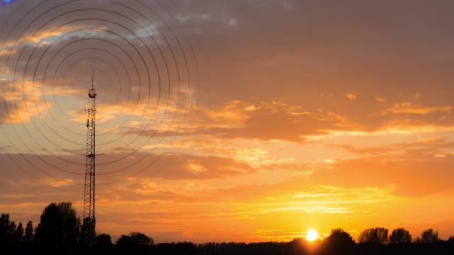 Radiowave visualisation at sunset