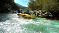 istock HD SLOW MOTION: Rafters Running The Rapids 473098101