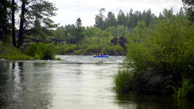 Rafting boats in the distance video