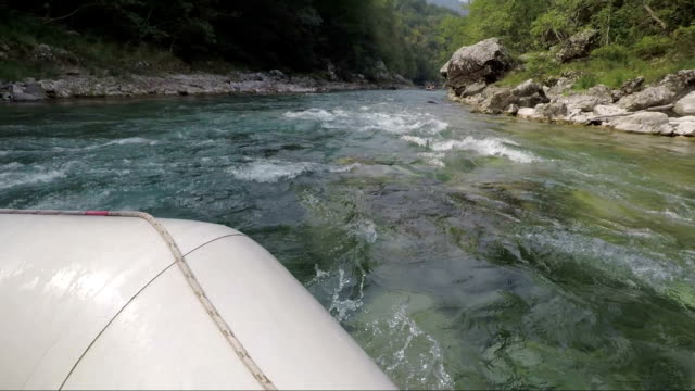 Rafting on the river Tara in the summer, Montenegro. video