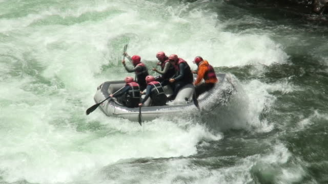 Rafting on whitewater video