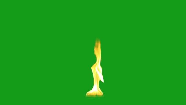 vidéos et rushes de graphiques de mouvement de feu de rage avec l'arrière-plan vert d'écran - baptême