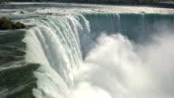 istock AERIAL, CLOSE UP: Raging Niagara River falling over the edge on Horseshoe Falls 696526584