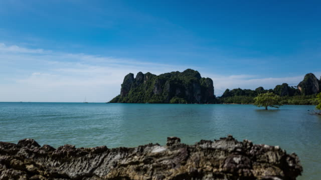 Railay Beach, Krabi, Thailand, Timelapse video