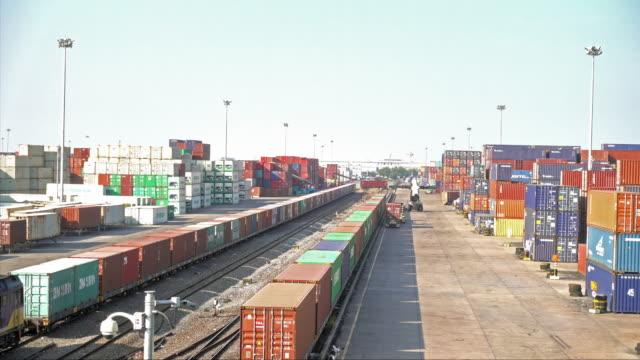 Railroad cargo ship video