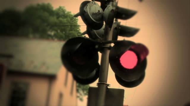 Railroad Crossing Signal - Color video