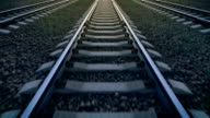 istock Railroad, forward loop, 3D animation 873130458