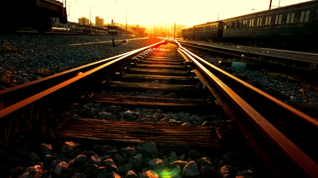 Railroad Track At Sunset video