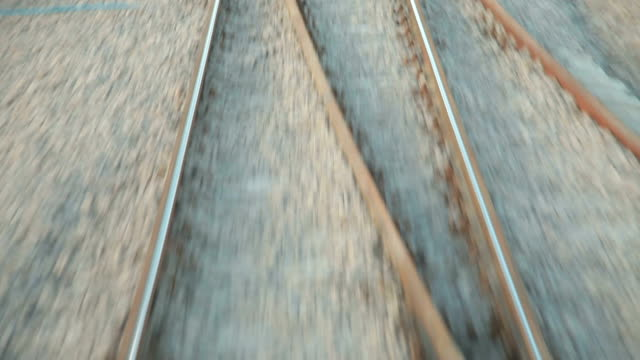 Railroad Track Moving At High Speed video
