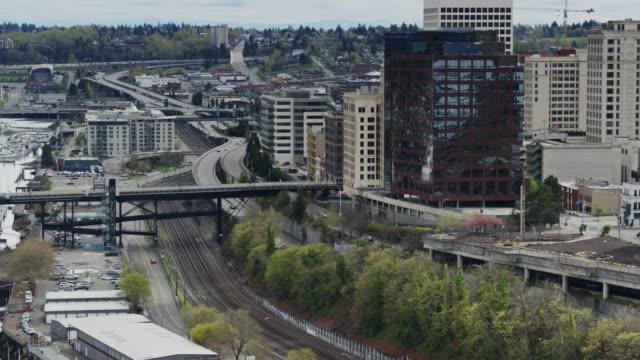 Railroad Tracks Through Downtown Tacoma