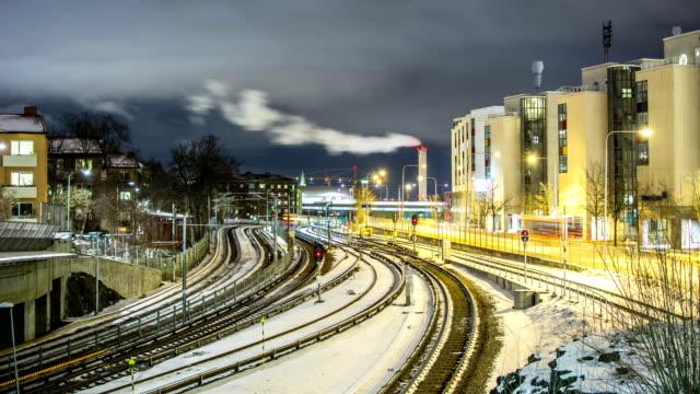 Railroad Tracks Time Lapse video