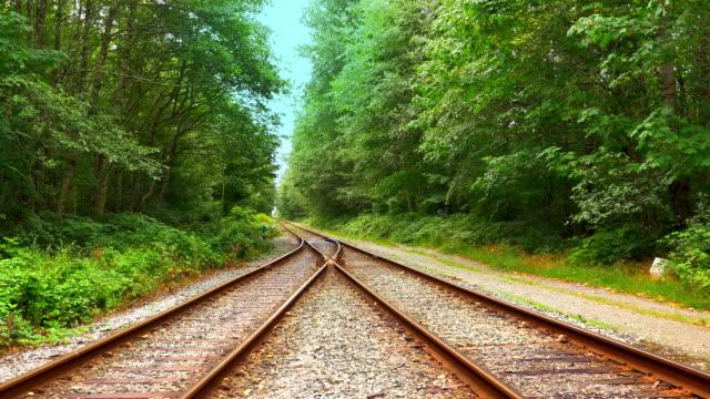 Railroad Train Tracks Line, Steel Transportation, Junction Diverge video