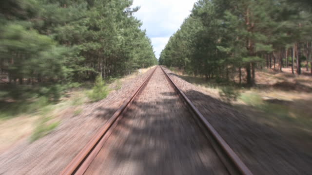 Railroad Camera at empty Railroad - time lapse tramway videos stock videos & royalty-free footage