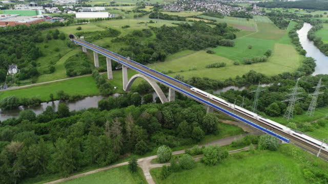 Railway bridge over Lahn River