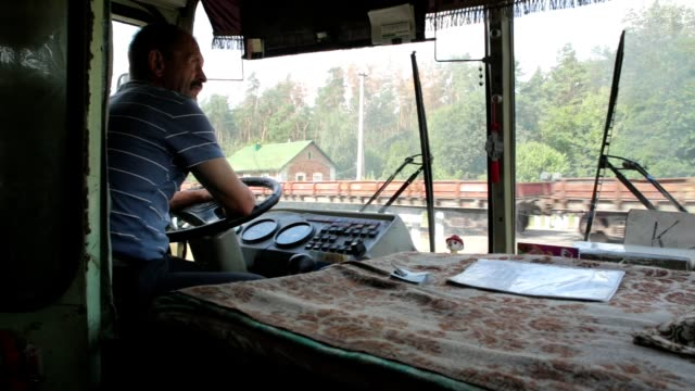 railway crossing in ukraine. - bus driver stock videos and b-roll footage