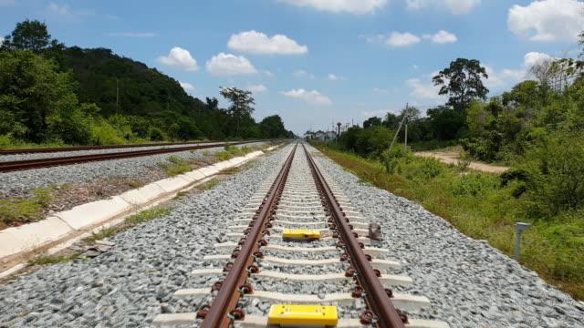 Railway Tracks In summer.