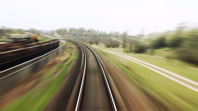 Railway train travel - time lapse video