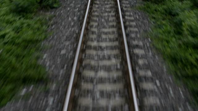 Railway train travel video