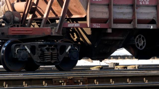 kolejka wagonu kolejowego 4k - wagon kolejowy filmów i materiałów b-roll