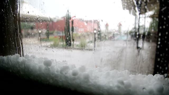 rain and hail storm - grandine video stock e b–roll