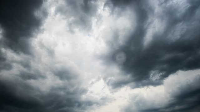 비 구름 시간 경과 - 불길한 스톡 비디오 및 b-롤 화면