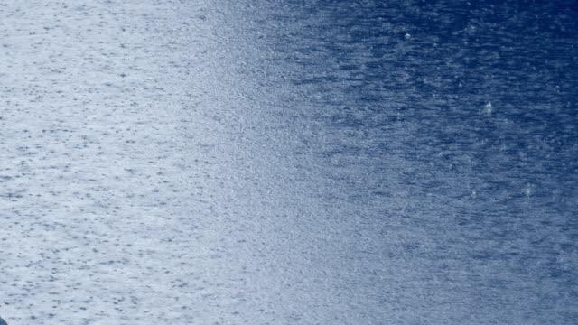 Rain drop falling in water! video