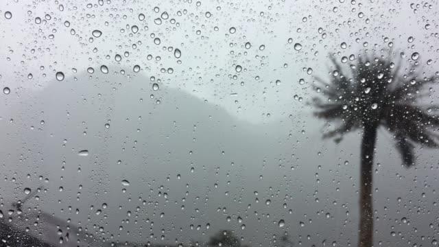 Rain drop on car windshield video